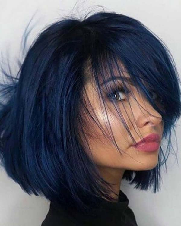 Stunning Blue Black Hair Color Ideas for 2018