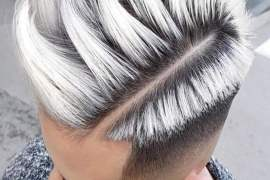 New & Fresh Men's Hairstyles with Silver Highlight for 2018