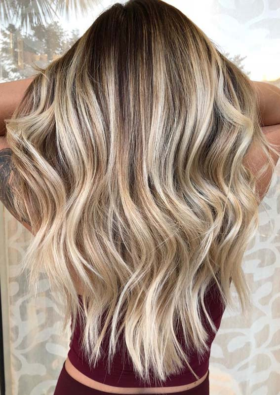 Balayage Ombre Hair Colors For Long Curly Hair in 2018