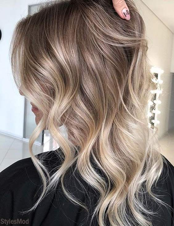 Adorable Shades for Balayage Hairstyles & Hair Colors for 2018-2019