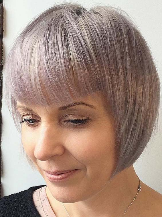 Grey Hair Color Trends for Short Hair 2018