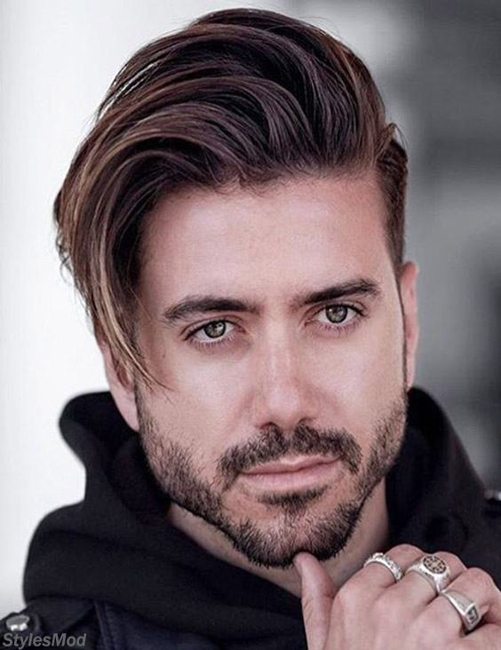 Long Hairstyles For Men With Little Gorgeous Beard For