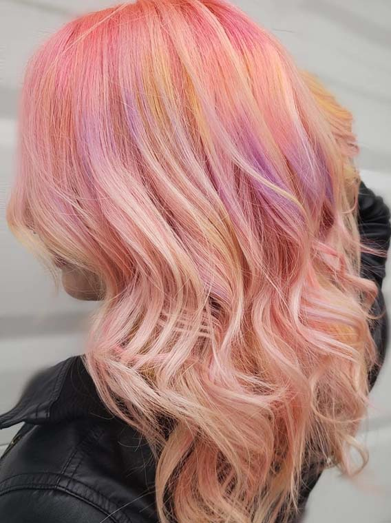 Pastel Pink Hair Colors Highlights in 2018