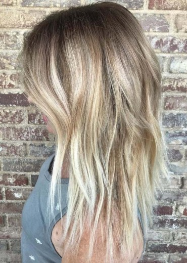 Textured Lob Balayage Hairstyles for 2018