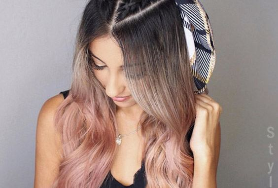 Dreamy Rose Gold Highlight With Braids Hairstyle For 2018 Stylesmod