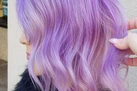 Fresh Look of Lilac Hair Color Highlights for 2019