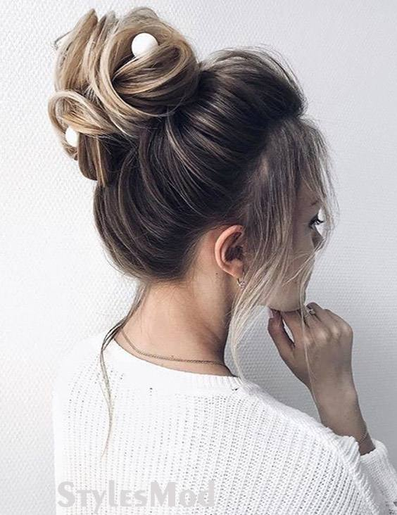 Lovely & Cute Updo Bun Hairstyle Trends for 2019 Bridals