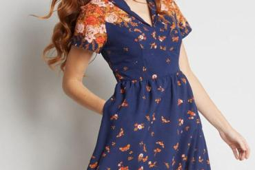 Lovely Short Sleeve Blue Dresses for Young Girls In 2019