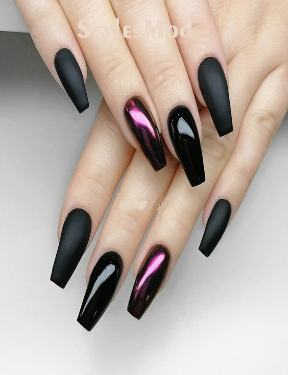 Premium Black With Xtreme Matte Nail Designs For 2018 2019 Stylesmod