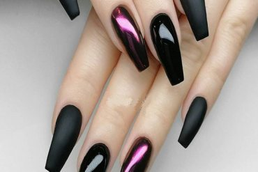 Premium Black with Xtreme Matte Nail Designs for 2018-2019