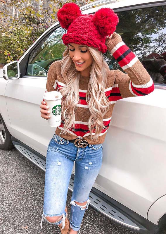 Sweater American Style Casual Dresses & Outfits in 2019