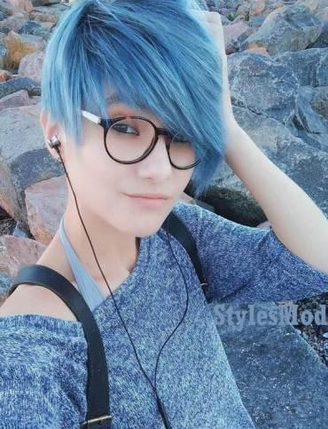Blue Short Fleek Hairstyle & Haircuts for 2019