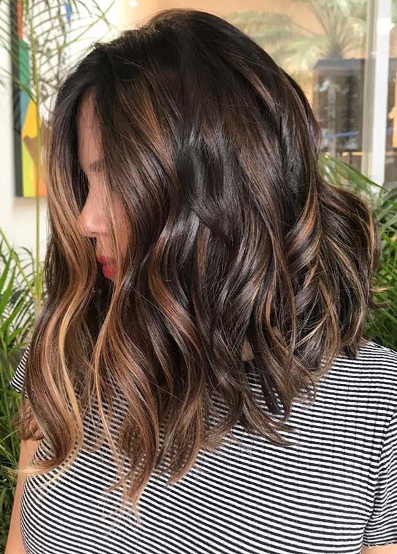 Brunette Balayage Hair Color Ideas for 2019