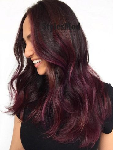 Hottest Purple Balayage Hairstyle Trends for 2019