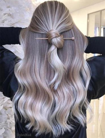 Best Knot Hairstyles & Hair Color HIghlights for 2019