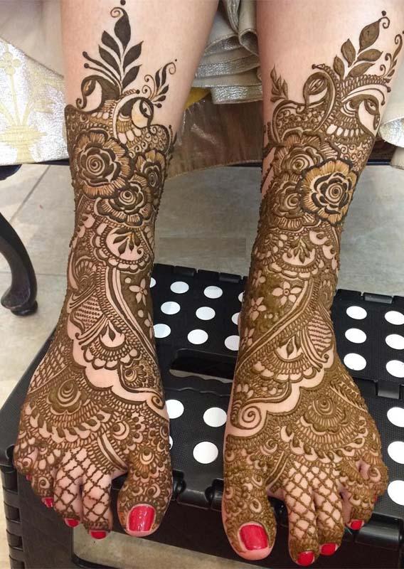 Bridal Feet Henna Designs in 2019
