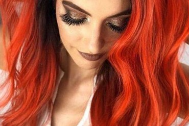 Intensively Bold Orange & Rose Gold Hair Color Ideas for 2019
