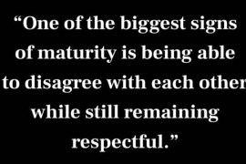 One Of the Biggest Signs of Maturity