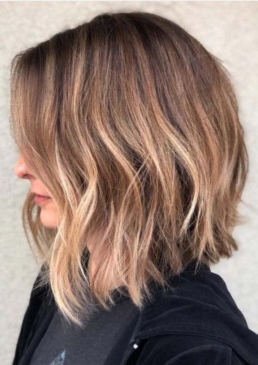 Textured Long Bob Hairstyles for 2019