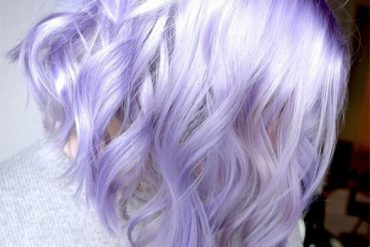 Adorable French Lavender Lob Haircuts for 2019