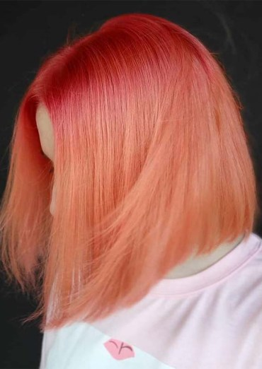 Awesome Peach Hair Color Trends for 2019
