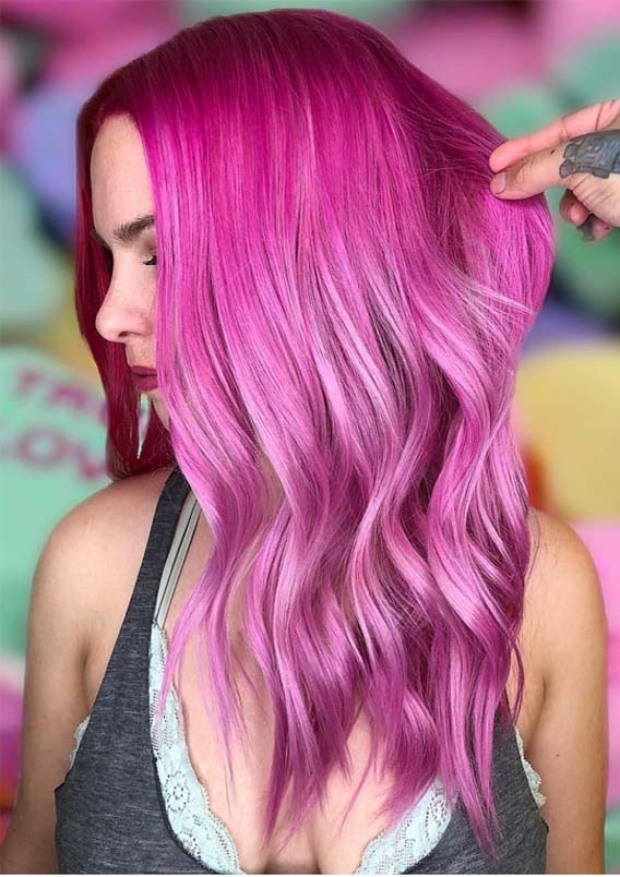 Beautiful & Shiny Pink Hair Colors for 2019