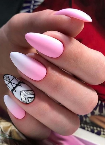 Cutest Almond Pink Nail Designs in 2019