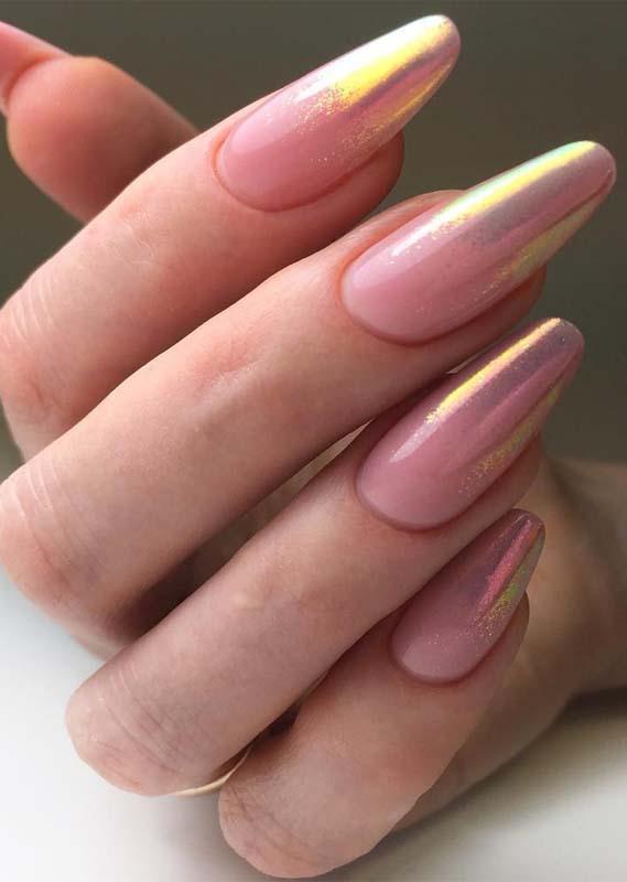 cute long nail art design &