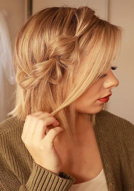 Perfect Side Braids For Short Hair Looks In Year 2019