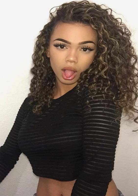 superb curly hairstyles for medium length hair in 2019