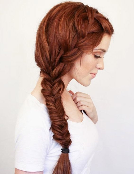 Amazing Fishtail Side Braid Hairstyles Trend for 2019