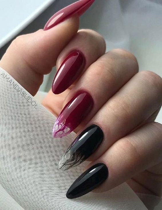 Amazing Red & Black Nail Designs for 2019