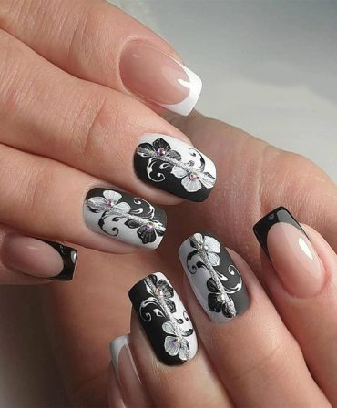 Awesome Black & White Nails Art Combination for 2019