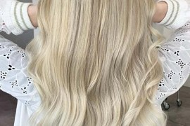 Blonde Balayage on Long Hair in 2019