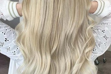 Blonde Balayage on Long Hair in 2019