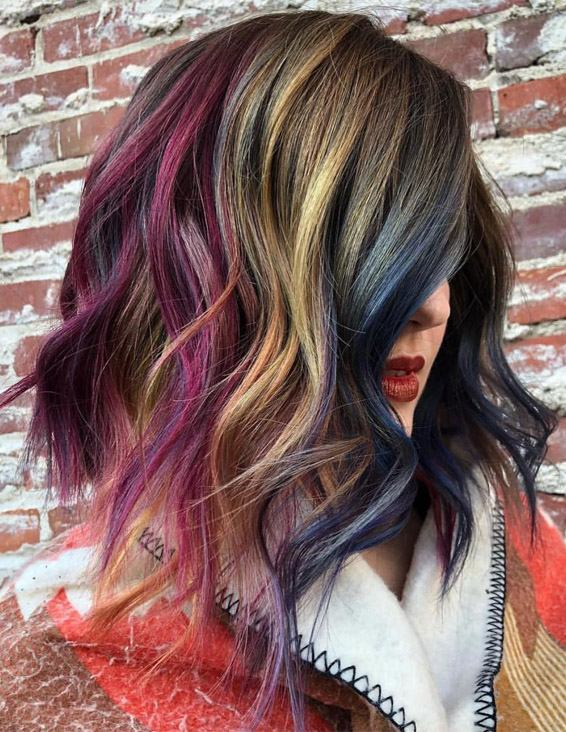 Gorgeous Colorful Short Haircuts for the Year of 2019