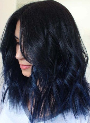 Obsessed Blue Black Hair Color Shades You Must Try in 2019