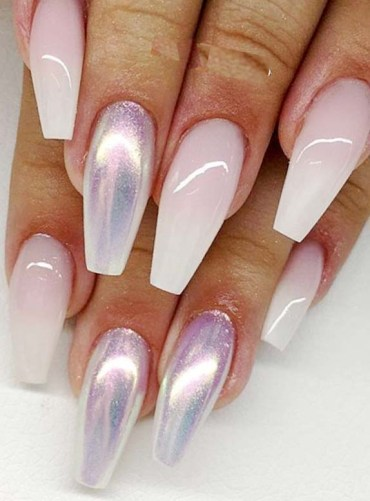 Ombre Coffin Acrylic Nails Arts Designs in 2019