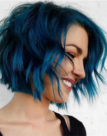 Pulpiot Blue Hair Colors for Short Hair in 2019