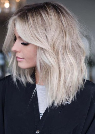 Blonde Babylights Lob Cuts in 2019