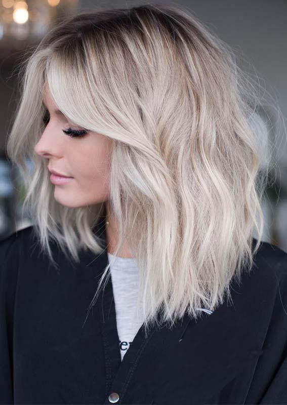 Blonde Babylights Lob Cuts in 2019