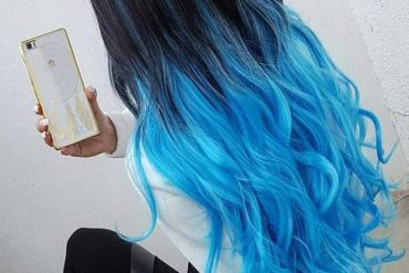 Blue & Black Hair Color Combination You Should Try Now