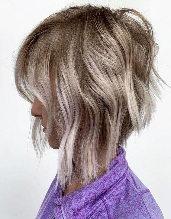 Angled Bob Hair Ideas for Short Hair In 2019