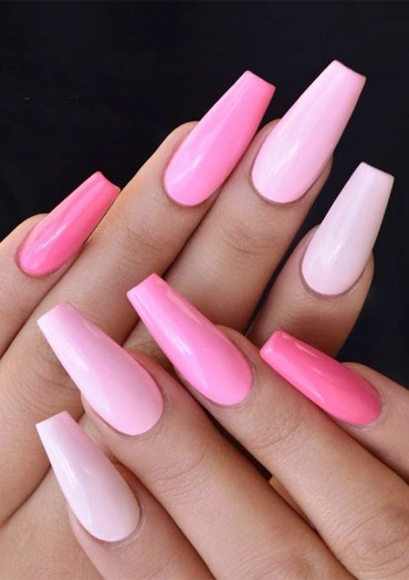 Elegant Light Pink Nail Arts Designs for 2019