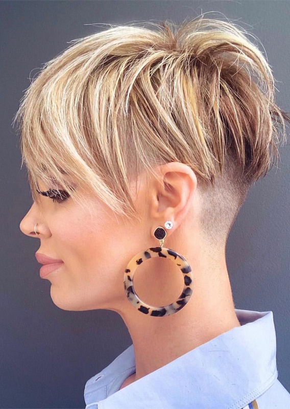 Modern Looks Of Undercut Pixie Hair Styles in 2019