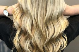 Long Waves Hair Looks with Balayage Color in 2019