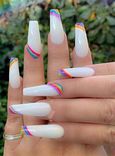 Stylish Nail Arts Designs for Long Nails to Wear in 2019