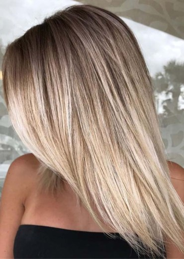 Sleek Straight Balayage Hair Styles for Women 2019