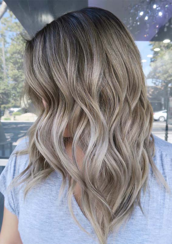 Babylight root ash blonde hair color ideas for Women 2019
