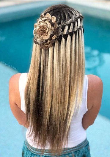 Double ladder braids hairstyles for Women 2019